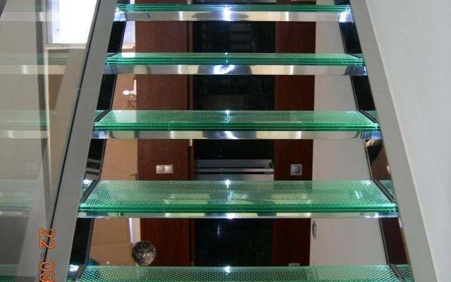Escadas Interiores Vidro/Inox